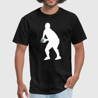 Scrum Half Rugby Player Silhouette Cool Sports - Men's T-Shirt