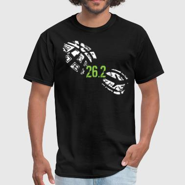 Shoe 26.2 Miles Running Shoe Footprint Marathon Runner - Men's T-Shirt