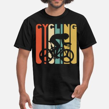 Retro Cycling Retro 1970's Style Cyclist Silhouette Cycling - Men's T-Shirt