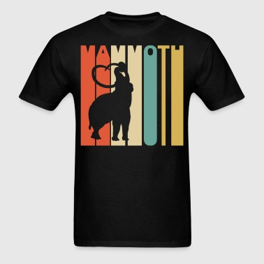 1970's Style Woolly Mammoth Silhouette Mammoth - Men's T-Shirt