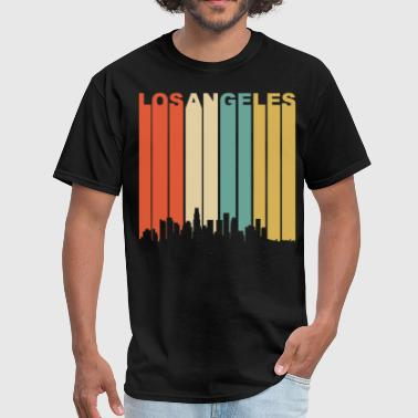Retro Los Angeles California Downtown Skyline - Men's T-Shirt
