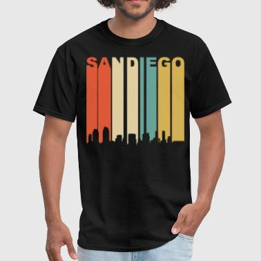 Diego Retro San Diego California Downtown Skyline - Men's T-Shirt
