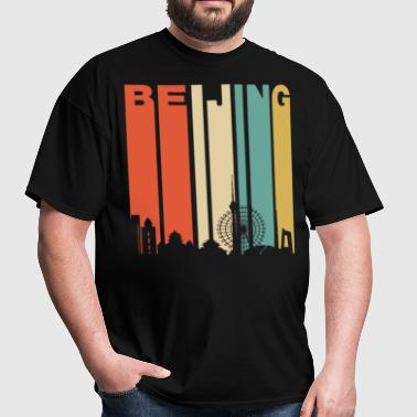 Retro Beijing China Cityscape Downtown Skyline - Men's T-Shirt