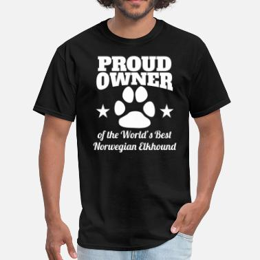 Norwegian Elkhound Owner Owner Of The World's Best Norwegian Elkhound - Men's T-Shirt
