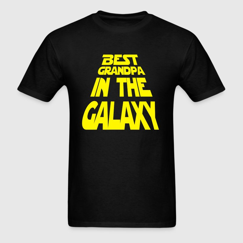 Fathers Day Shirt Best Grandpa In The Galaxy - Men's T-Shirt