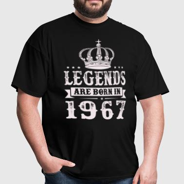 Legends Are Born In 1967 - Men's T-Shirt