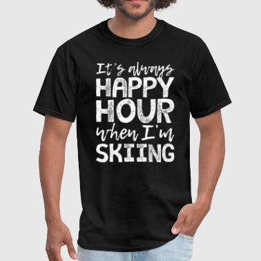This Is My Happy Hour Skiing is My Happy Hour - Men's T-Shirt