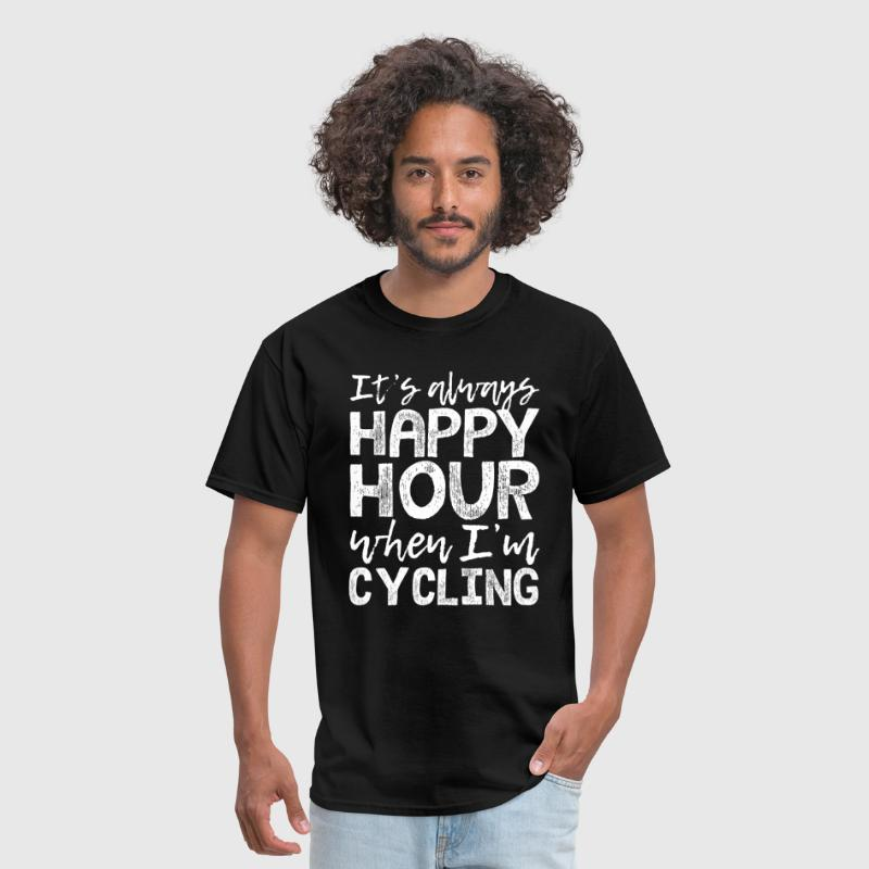 Cycling is My Happy Hour - Men's T-Shirt