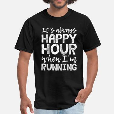 Running Is My Happy Hour Running is My Happy Hour - Men's T-Shirt