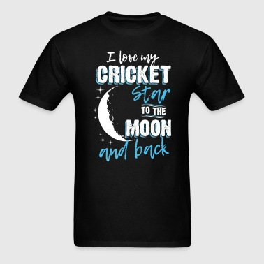 Cricket Mom To the Moon an Back - Men's T-Shirt