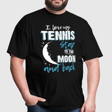 Tennis Mom To the Moon an Back - Men's T-Shirt