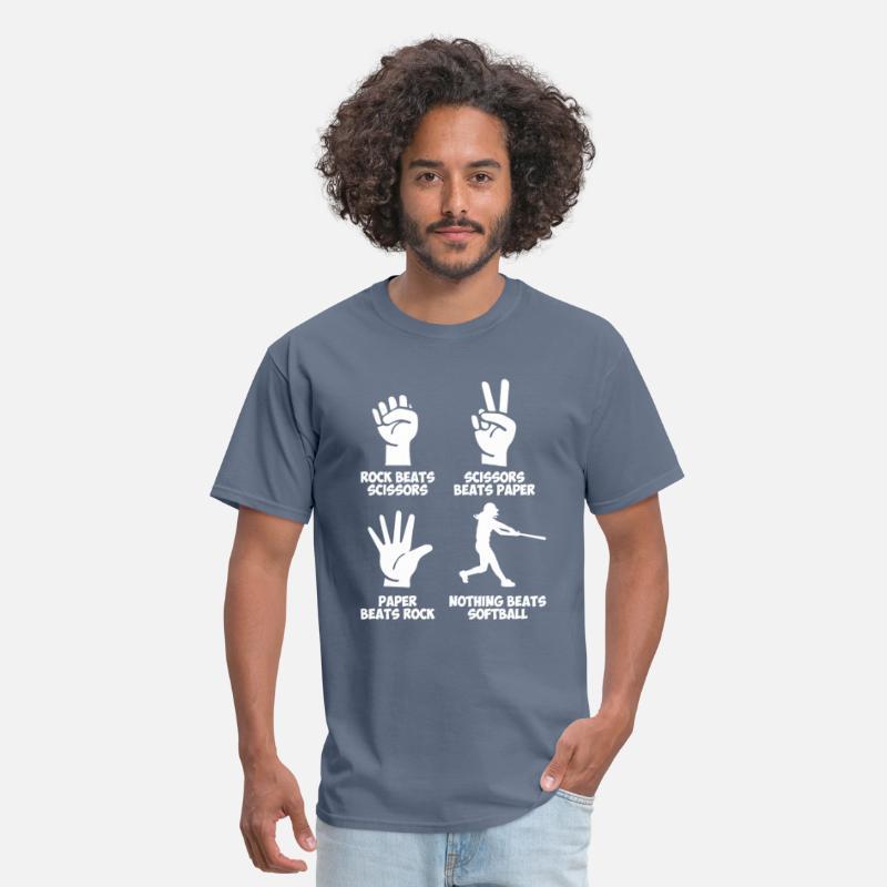3e1fc166 Softball Rock Paper Nothing Beats Men's T-Shirt | Spreadshirt