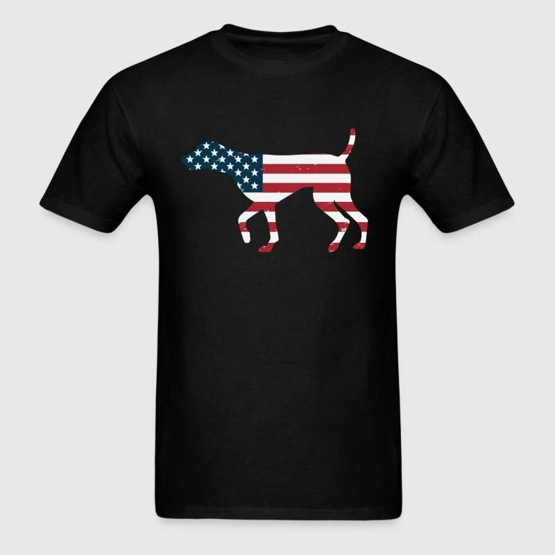 German Shorthaired Pointer USA American Flag Patri - Men's T-Shirt