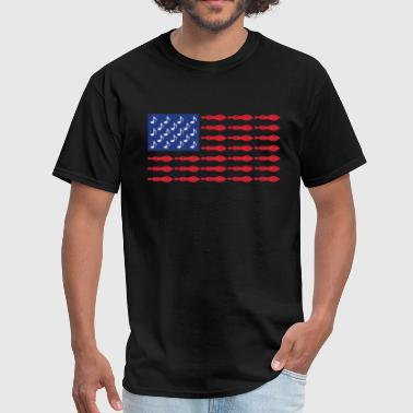 Dulcimer USA American Music Patriotic Flag T-Shirt - Men's T-Shirt
