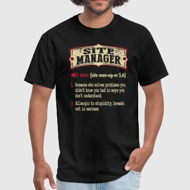Site Manager Dictionary Term Sarcastic  - Men's T-Shirt