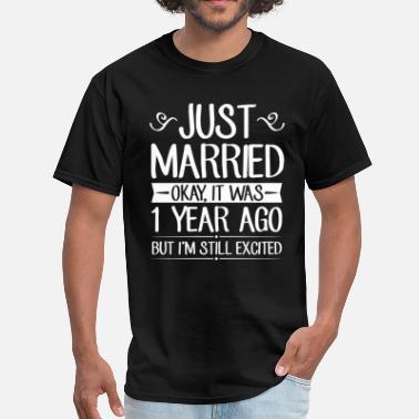 046dba3e 1 Wedding Anniversary Just Married - Men's T-Shirt
