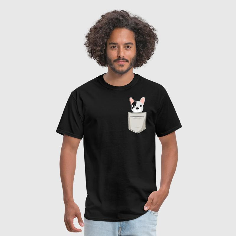 French Bulldog In a Pocket - Men's T-Shirt