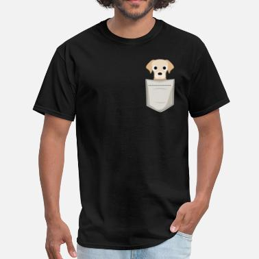 Puppy Labrador Puppy In a Pocket - Men's T-Shirt