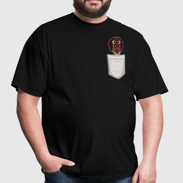 Wire Haired Pointer In a Pocket - Men's T-Shirt