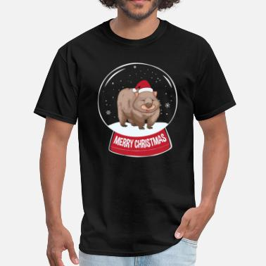 Wombats Wombat Merry Christmas Snowball - Men's T-Shirt