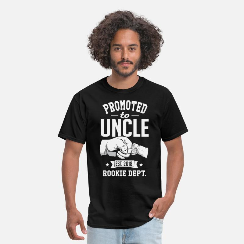 Promoted To Uncle 2018 (rookie Dept) T-Shirts - Promoted to Uncle 2018 (rookie dept) - Men's T-Shirt black