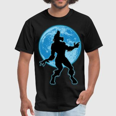 Werewolf and moon - Men's T-Shirt