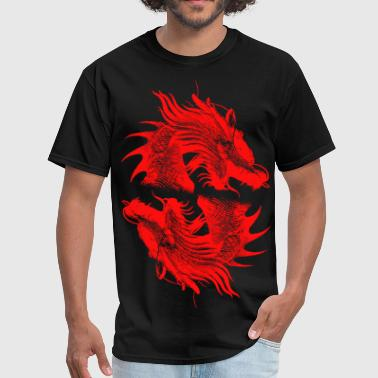 Red Dragon ( HD Pixel Design ) - Men's T-Shirt