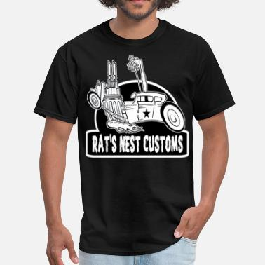 Rat Fink Rat's Nest Customs - Men's T-Shirt
