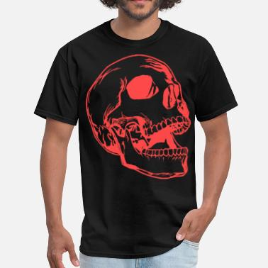 Art-design-big-tall Big Skull Red ( HD Pixel Design ) - Men's T-Shirt