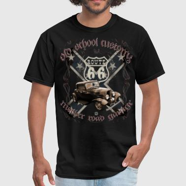 oldschool customs Route 66 road hot rod rod - Men's T-Shirt