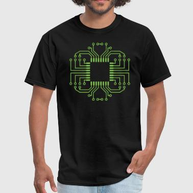 Electric Circuit Board Processor - Men's T-Shirt
