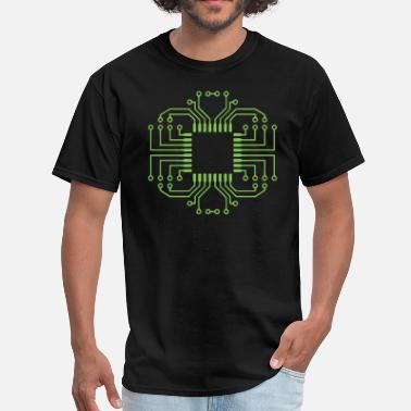6b9031a7 Electronics Electric Circuit Board Processor - Men's T-Shirt