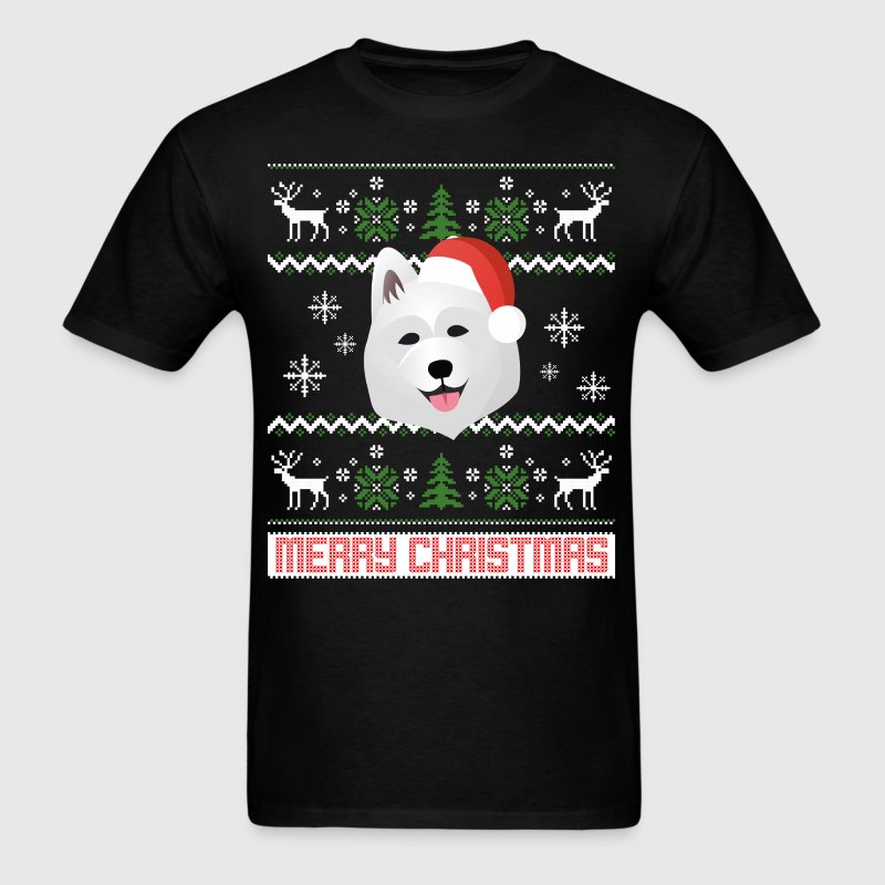 Samoyed Santa Snow Christmas T-Shirt - Men's T-Shirt