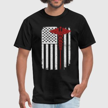Nurse Flag Nurse - America USA Flag T-Shirt - Men's T-Shirt