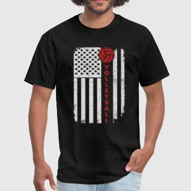 Volleyball Beach Volley - America USA Flag T-Shirt - Men's T-Shirt
