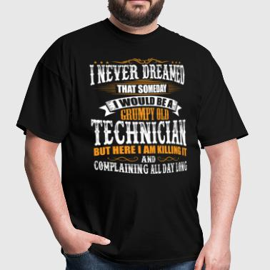 Technician Grumpy Old T-Shirt  - Men's T-Shirt