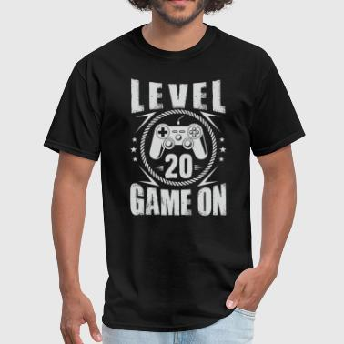 20 Birthday LEVEL 20 Game ON Birthday - Men's T-Shirt