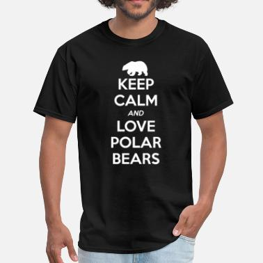 Keep Calm And Love Polar Bears Polar Bear Keep Calm and Love - Men's T-Shirt