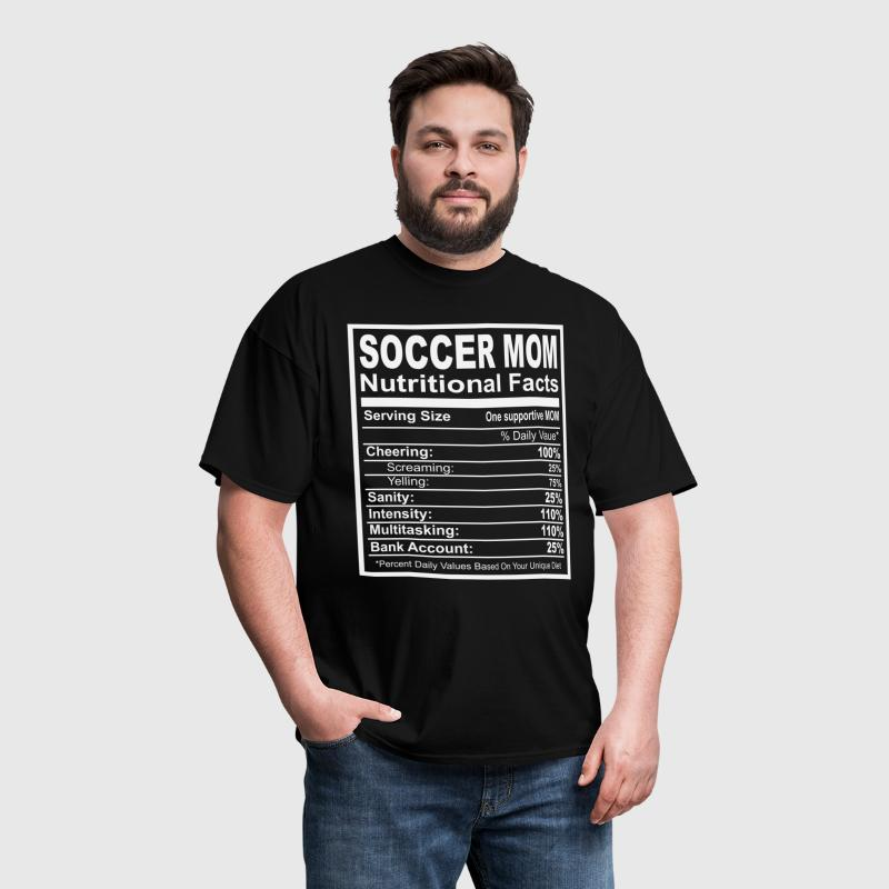 Soccer Mom Nutritional Facts - Men's T-Shirt