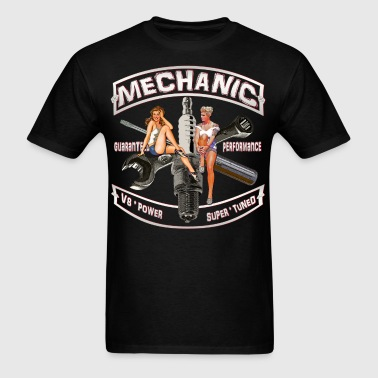 Mechanic spark pinups - Men's T-Shirt