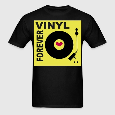 Vinyl Forever Coloured design - Men's T-Shirt