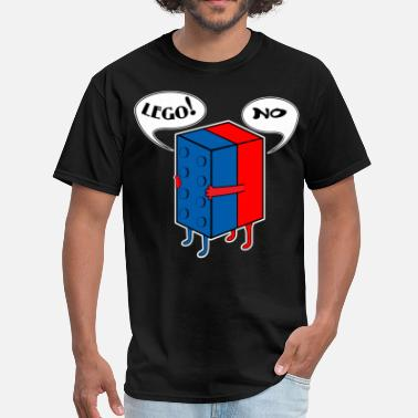 Funny Lego LEGO! NO! - Men's T-Shirt
