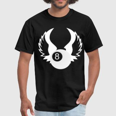 Eight 8 Ball with Wings - Men's T-Shirt