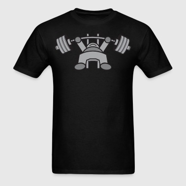 Kawaii Bench Press - Grey - Men's T-Shirt