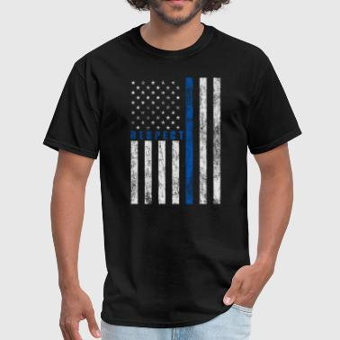 Police Flag Respect Policemen - Men's T-Shirt