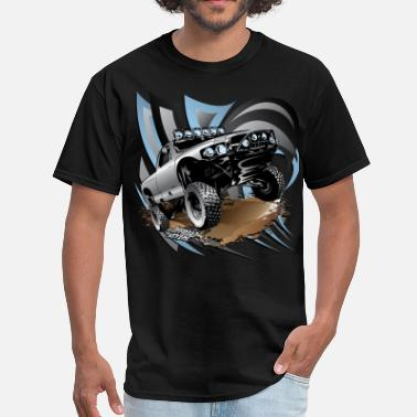 Desert Racing Trophy Race Truck Grey - Men's T-Shirt