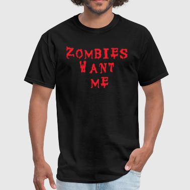 Izombi Men's T-Shirt - Zombies Want Me  - Men's T-Shirt
