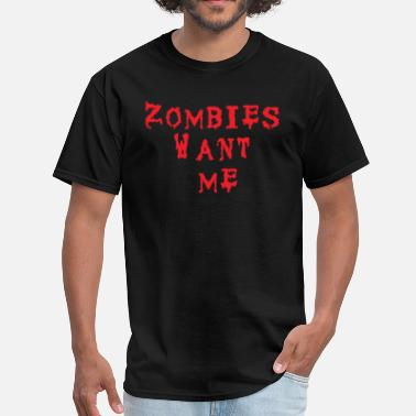 Izombie Men's T-Shirt - Zombies Want Me  - Men's T-Shirt
