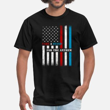 Support Our Troops Take A Stand Anthem - Men's T-Shirt