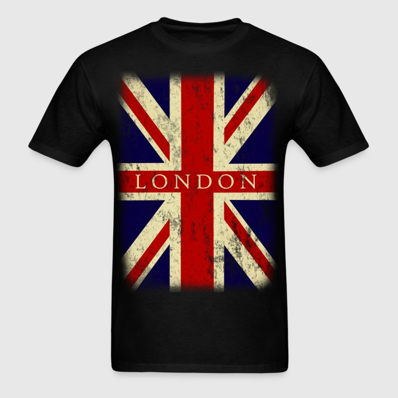 vintage london flag - Men's T-Shirt